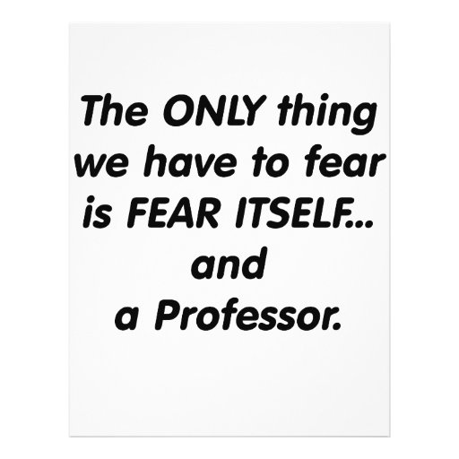 Fear professor full color flyer