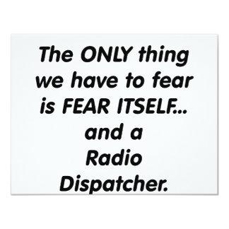 fear radio dispatcher 11 cm x 14 cm invitation card