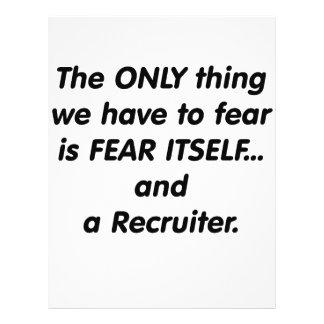 Fear Recruiter 21.5 Cm X 28 Cm Flyer