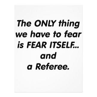 Fear referee custom flyer