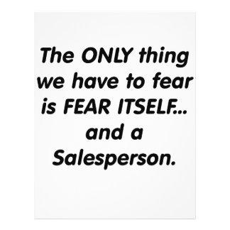 Fear salesperson custom flyer