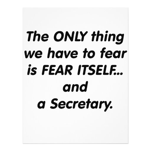 Fear Secretary Custom Flyer