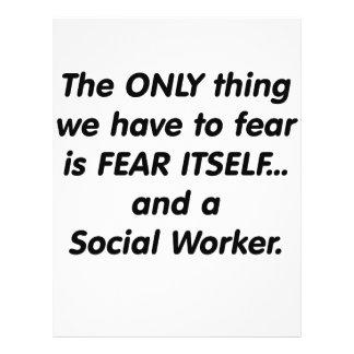 Fear Social Worker 21.5 Cm X 28 Cm Flyer