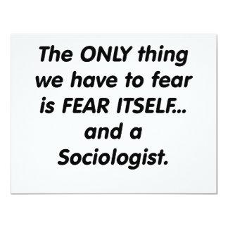fear sociologist 11 cm x 14 cm invitation card