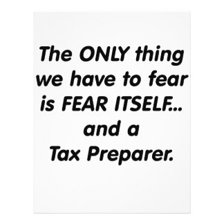 Fear Tax Preparer 21.5 Cm X 28 Cm Flyer
