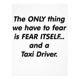 Fear Taxi Driver Custom Flyer