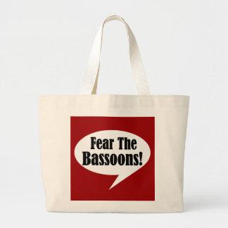 Fear The Bassoons Jumbo Tote Bag