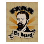 Fear the Beard, Funny Moustache Poster