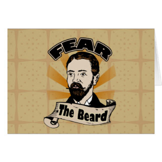 Fear the Beard, Funny Mustache Greeting Card