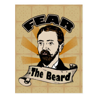 Fear the Beard Funny Mustache Post Cards