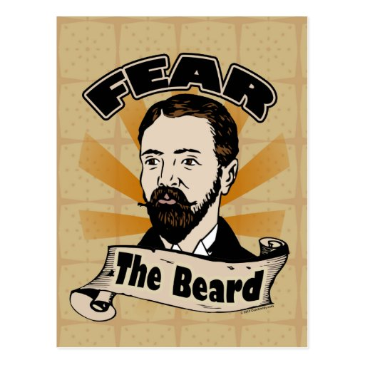 Fear the Beard, Funny Mustache Post Cards