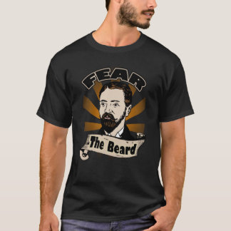 Fear the Beard, Funny Mustache T-Shirt