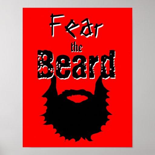 Fear The Beard Poster