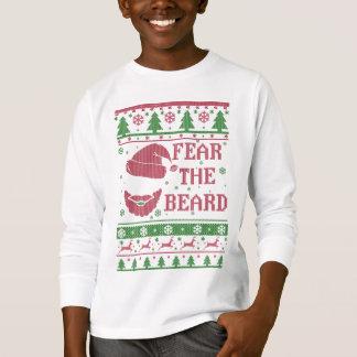 Fear The Beard Ugly Christmas T-Shirt