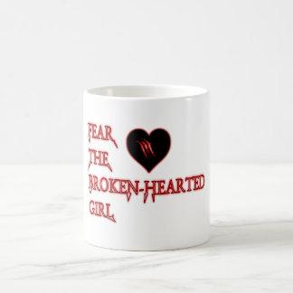 Fear the broken-hearted basic white mug