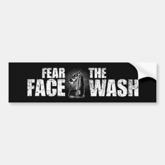 Fear The Face Wash (Hockey) Bumper Sticker
