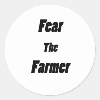 fear the farmer round sticker