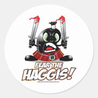 Fear the Haggis Classic Round Sticker