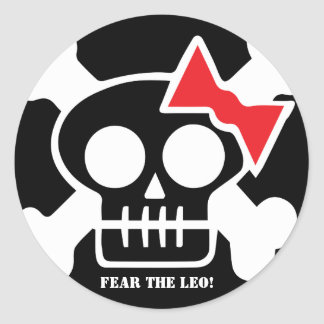 FEAR THE LEO! Sticker