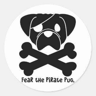 Fear the Pirate Pug Sticker