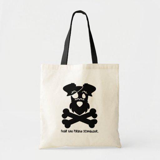 Fear the Pirate Schnauzer Canvas Bags