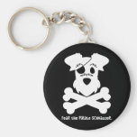 Fear the Pirate Schnauzer Basic Round Button Key Ring