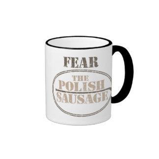 Fear the Polish Sausage Ringer Coffee Mug