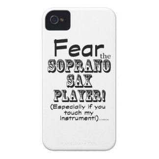 Fear The Soprano Sax Player iPhone 4 Cover