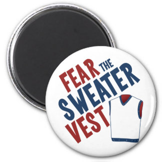 Fear the Sweater Vest 6 Cm Round Magnet