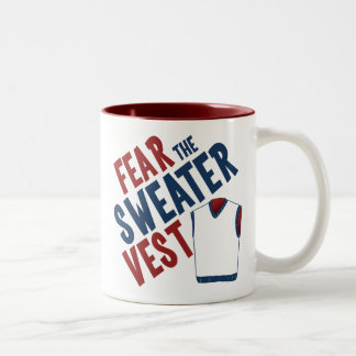 Fear the Sweater Vest Two-Tone Mug