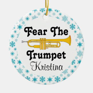 Fear The Trumpet Personalized Music Ornament