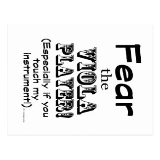 Fear The Viola Player Postcards