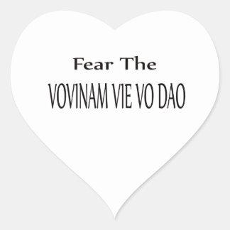 Fear the Vovinam vie vo dao. Heart Sticker