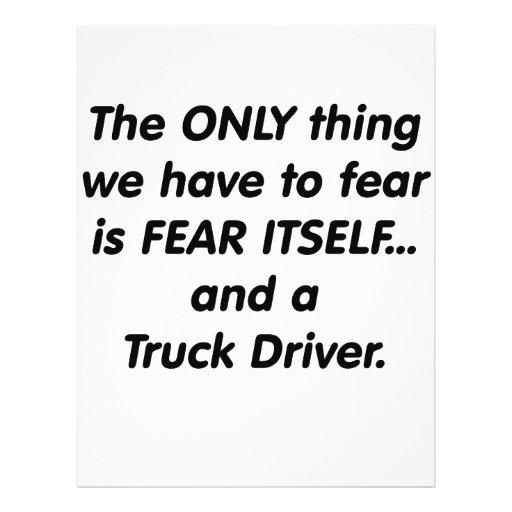 Fear Truck Driver Flyer