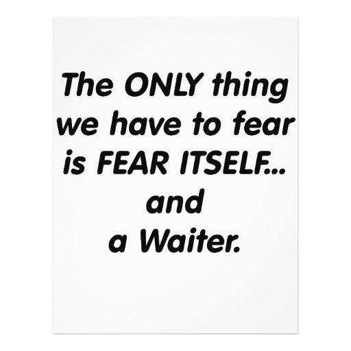 Fear Waiter Custom Flyer