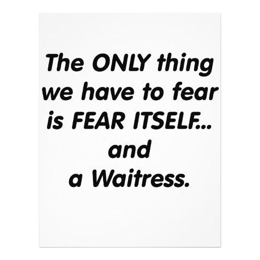 fear waitress flyer design