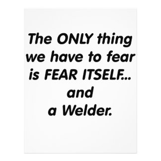 Fear Welder 21.5 Cm X 28 Cm Flyer
