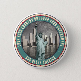 Fear Your Government 6 Cm Round Badge