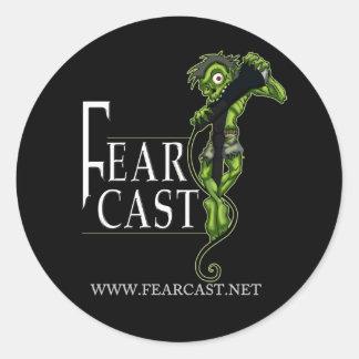 FearCast Harvey Logo Round Sticker
