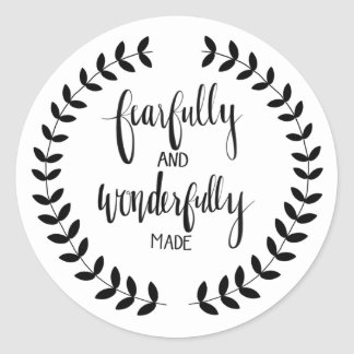 Fearfukky And Wonderfully Made Sticker