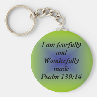 Fearfully and wonderfully made basic round button key ring