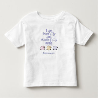 Fearfully and Wonderfully Made - Blue Personalized Toddler T-Shirt