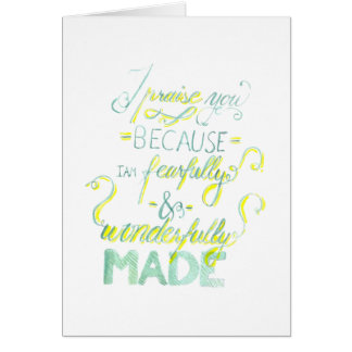 Fearfully and Wonderfully Made Card