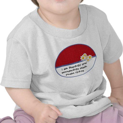Fearfully and Wonderfully Made Denim Dots..Daisies Shirt