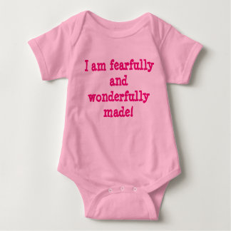 """Fearfully and Wonderfully made"" infant shirt GIRL"