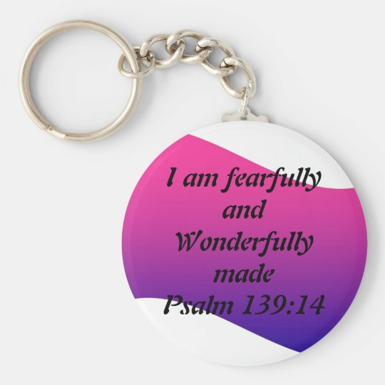 Fearfully and Wonderfully Made Key Ring
