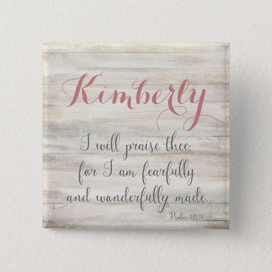 Fearfully & Wonderfully Made - Ps. 139:14 15 Cm Square Badge