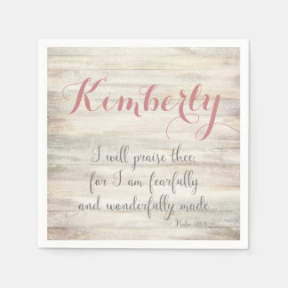 Fearfully & Wonderfully Made - Ps. 139:14 Disposable Napkins