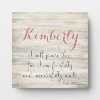 Fearfully & Wonderfully Made - Ps. 139:14 Plaque