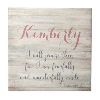 Fearfully & Wonderfully Made - Ps. 139:14 Small Square Tile